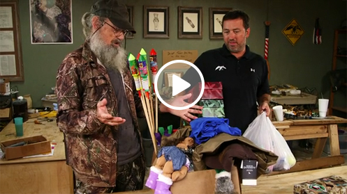 Uncle Si pack a shoebox