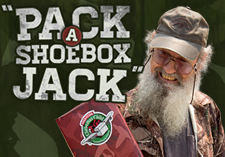 Build a Shoebox Gift Uncle Si Challenge